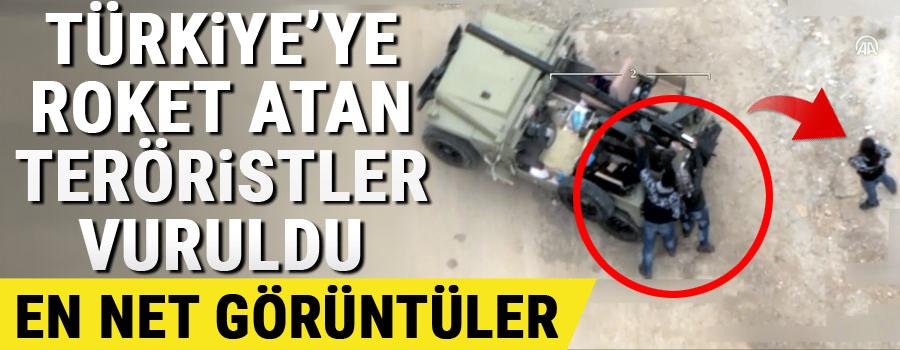 Afrin'den yeni görüntüler! Teröristler evlerin arasından Türkiye'ye saldırıyor