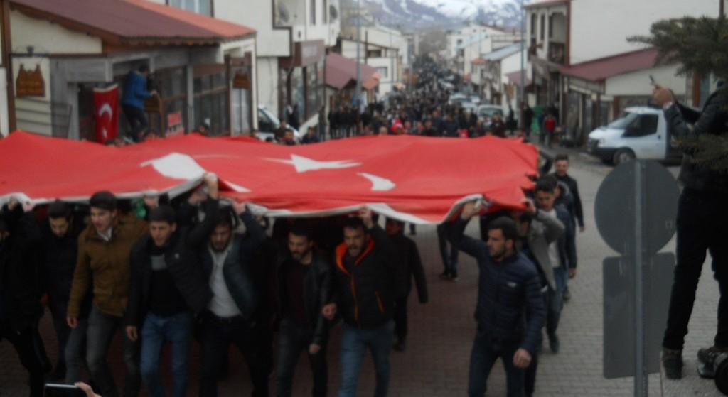 Narman'da 'Zeytin Dalı Harekatına' destek