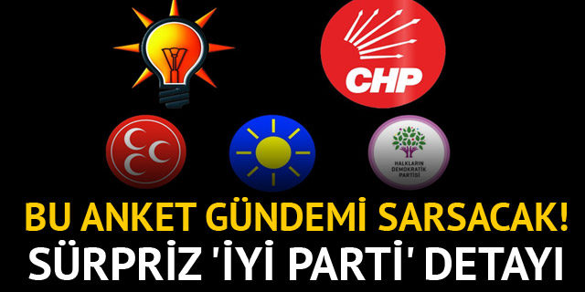Olay anket! AK Parti'ye büyük şok! İYİ Parti ise...