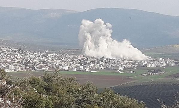 Raco'nun çevresindeki terör mevzileri vuruluyor