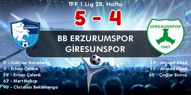 Erzurum'da çılgın maç!