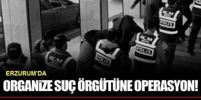 Erzurum'da Suç Örgütüne Operasyon: 10 Gözaltı