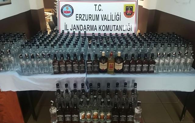 Erzurum'da Kaçak İçki Ele Geçirildi