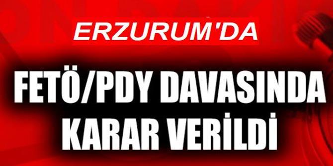 """Erzurum'da 5 Öğretmenin """"Fetö"""" Davasında Karar"""