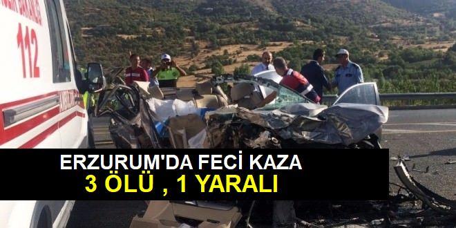 Otomobil Şarampole Devrildi: 3 Ölü, 1 Yaralı