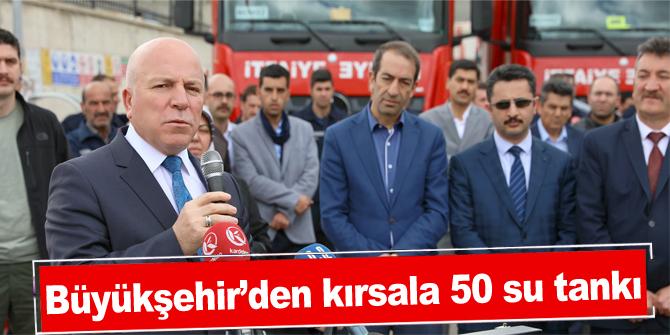 Büyükşehir'den kırsala 50 su tankı