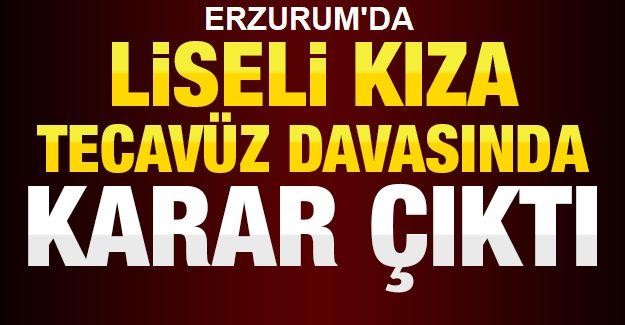 Erzurum'da o davada karar çıktı