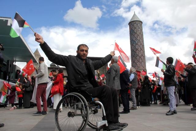Erzurum'da İsrail Protestosu