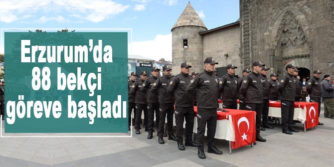 Erzurum'da 88 bekçi göreve başladı