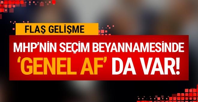 MHP'nin seçim beyannamesinde 'af' da var!