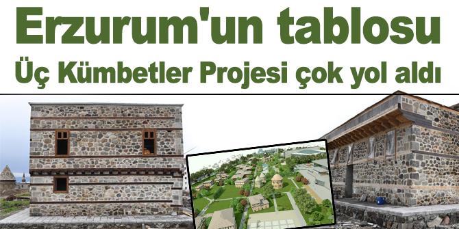 Erzurum'un tablosu, Üç Kümbetler Projesi çok yol aldı