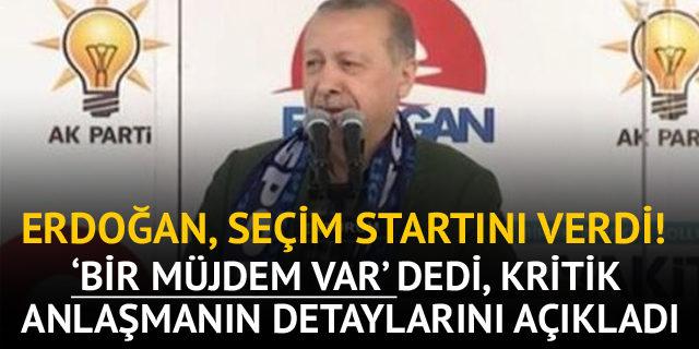 Cumhurbaşkanı Erdoğan seçim startını Erzurum'dan verdi