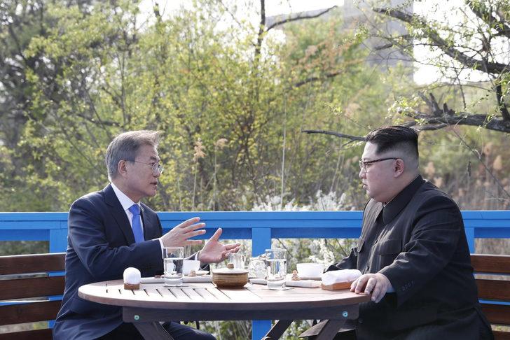 Kore'de sürpriz görüşme