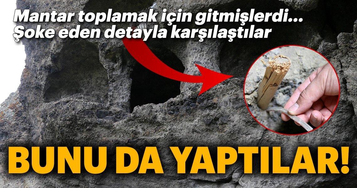 Erzurum'da Defineciler Antik Kaya Mezarları Patlayıcılarla Tahrip Etti