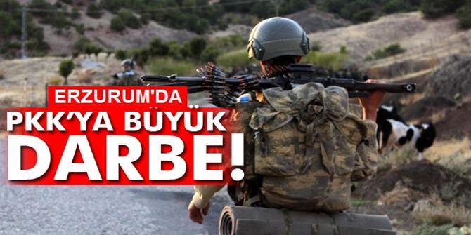 Erzurum'da PKK'ya ait sığınak ele geçirildi
