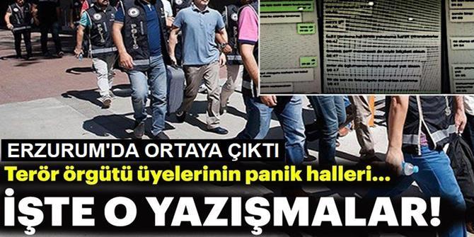 Erzurum'da FETÖ'cülerin panik halleri ByLock yazışmalarında