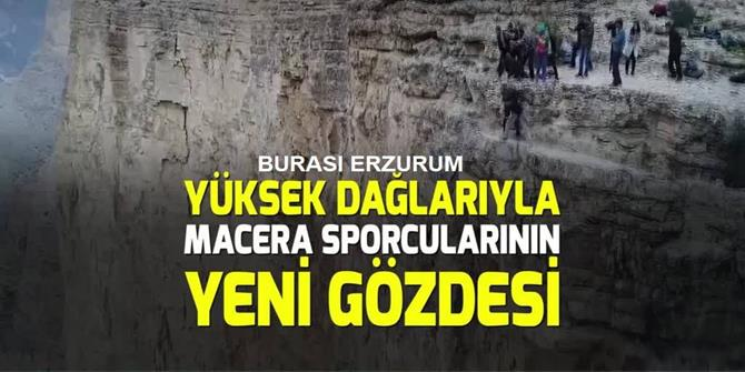 """""""Sakin kent Uzundere"""" yabancı ekstrem sporcularının gözdesi oldu"""