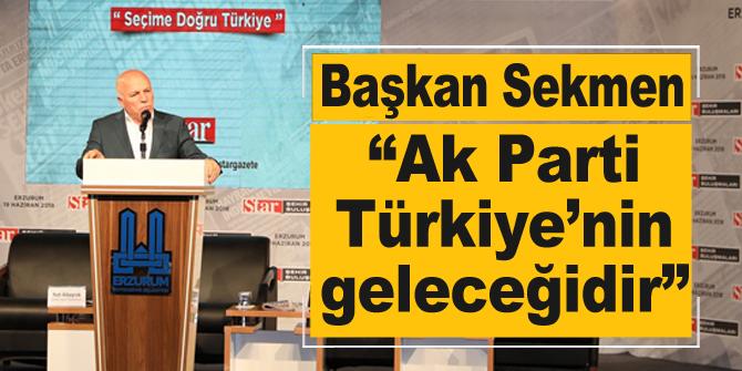 """Başkan Sekmen: """"Ak Parti Türkiye'nin geleceğidir"""""""