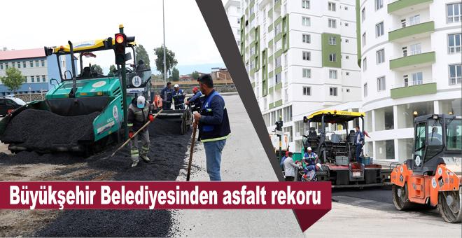 Yağmura rağmen asfalt rekoru