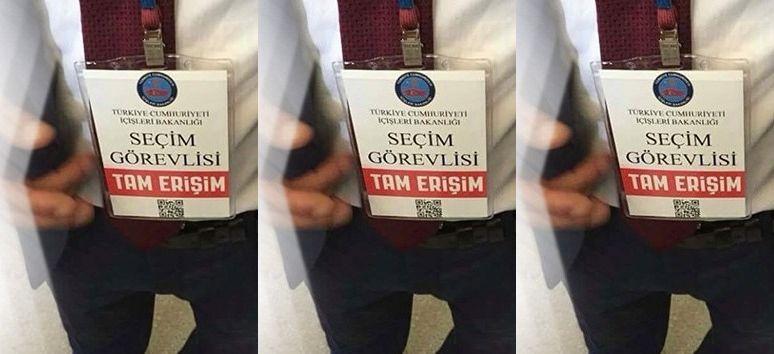 """Erzurum'da """"İçişleri Bakanlığı Amblemli Seçim Görevlisi Kartı"""" Kullanıldığı İddiası"""