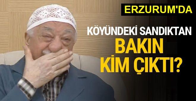 FETÖ lideri Gülen'in köyünde sandıktan bakın kim çıktı