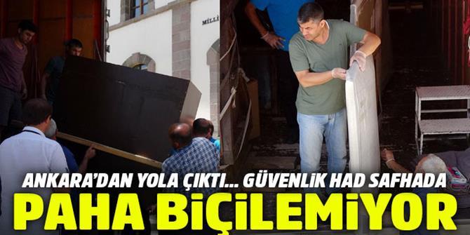 Ankara'dan konvoyla yola çıktılar: