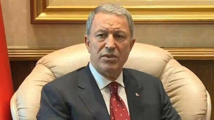 Milli Savunma Bakanı Hulusi Akar'dan ilk açıklama