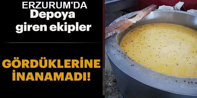 Erzurum'da Depoya Giren Zabıta Ekipleri Gözlerine İnanamadı