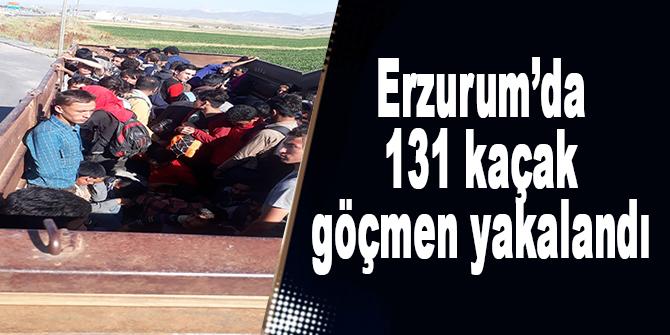 Erzurum'da 131 kaçak göçmen yakalandı