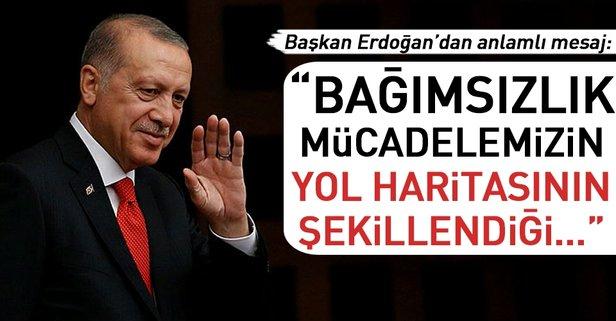 Cumhurbaşkanı Erdoğan'dan Erzurum mesajı.