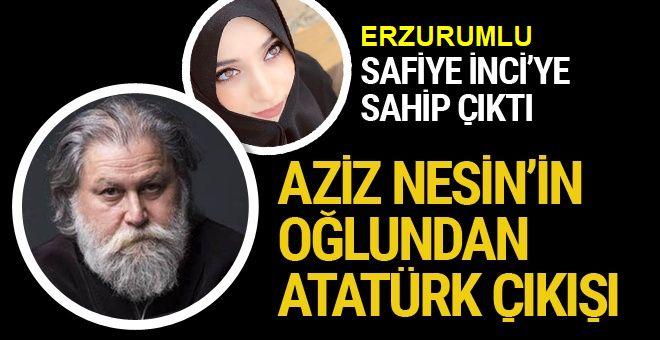 Ali Nesin Atatürk'e hakaretten tutuklanan Safiye İnci'ye sahip çıktı