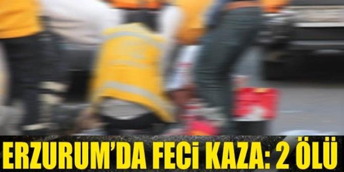 Erzurum'da otomobil devrildi: 2 ölü
