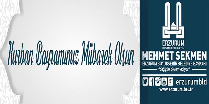 Erzurum Büyükşehir Belediyesi Kurban Bayramınız mübarek olsun