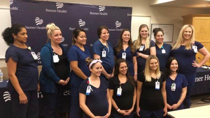 Aynı hastanede 16 hemşire birden hamile