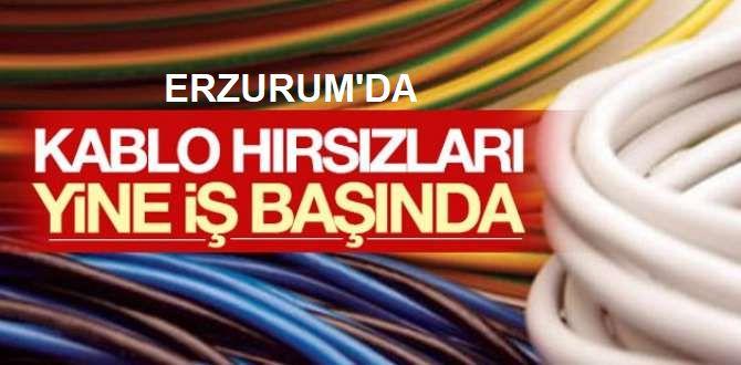 Erzurum'da okul inşaatından kablo hırsızlığı