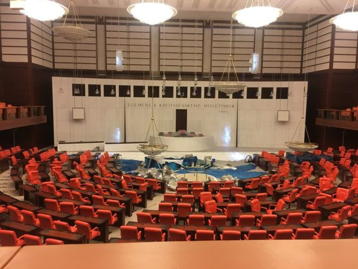 Meclis'in yeni hali ilk kez görüntülendi