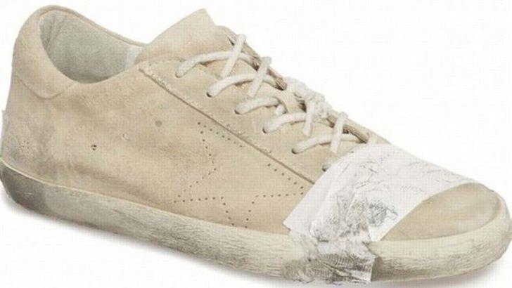 530 dolarlık eskitilmiş ayakkabı sosyal medyayı salladı