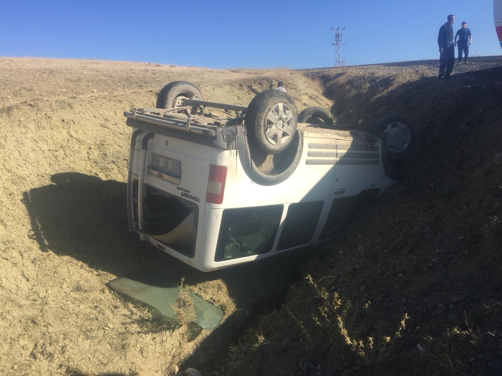 Horasan'da trafik kazası: 1 yaralı