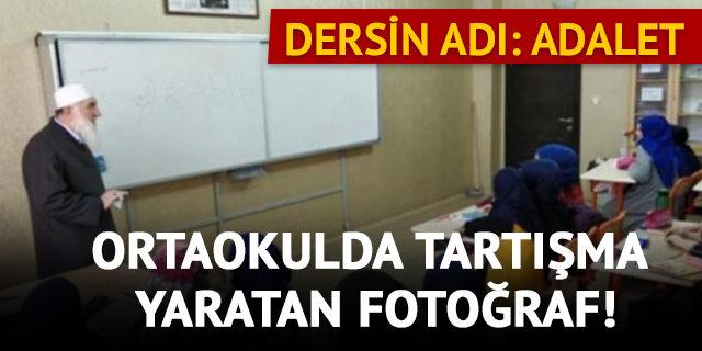 Ankara'daki ortaokulda tartışma yaratan görüntü