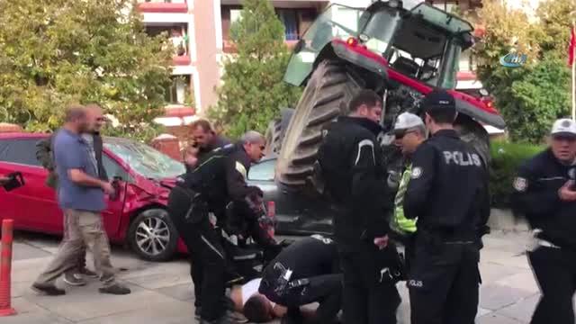 TBMM Yakınında Polis Ekipleri, Bir Traktörü Durdurmak İçin Ateş Açtı