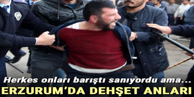 Erzurum'da dehşet anları!