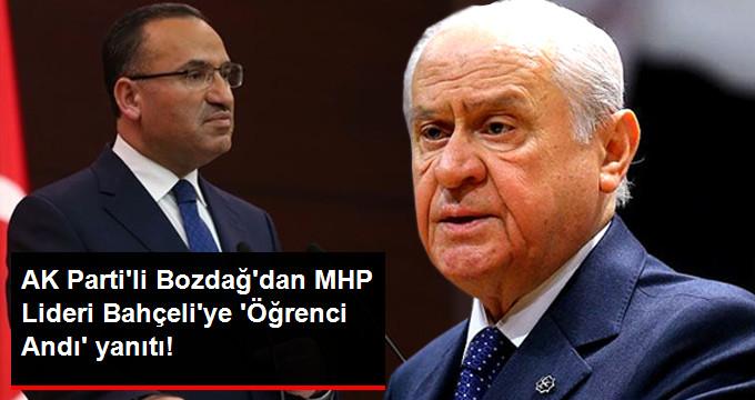 AK Parti'li Bekir Bozdağ'dan MHP Lideri Bahçeli'ye Cevap