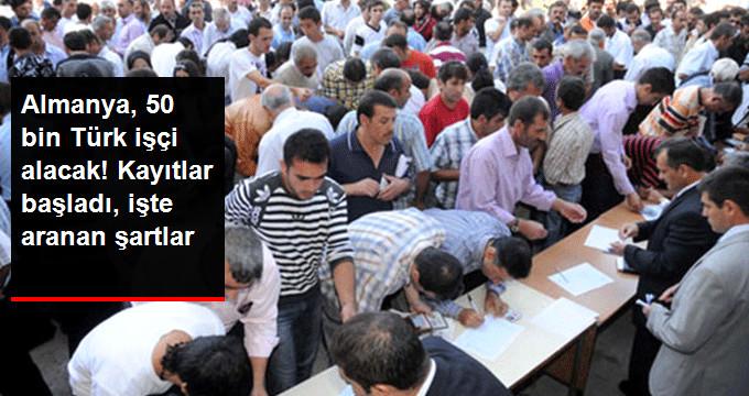 Almanya'ya Gidecek 50 Bin Türk İşçi İçin Kayıtlar Başladı