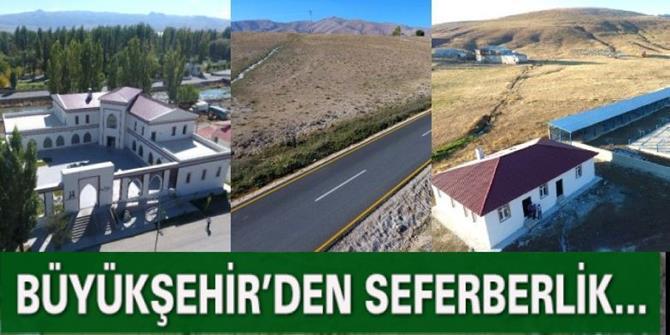 Erzurum Büyükşehir'den büyük seferberlik