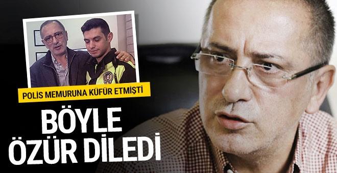 Fatih Altaylı küfür ettiği polis memurundan böyle özür diledi