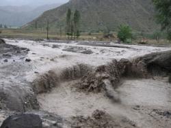 Erzurum'da sel yolları kapattı