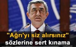 Sarkisyan'a sert kınama!