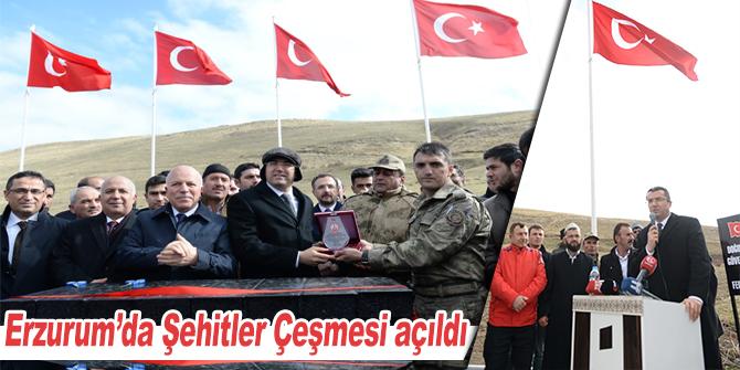 Erzurum'da Şehitler Çeşmesi açıldı