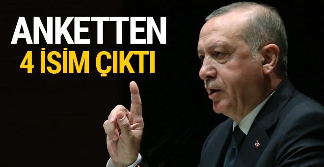 Erdoğan'a sunulan yerel seçim anket sonucundan çıkan 4 isim!