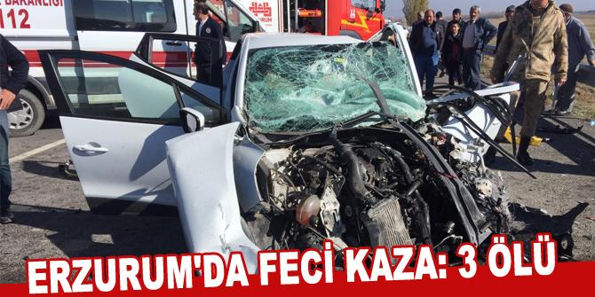 Erzurum'da feci kaza: 3 ölü